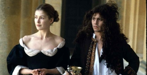 Rosamund Pike and Johnny Depp in The Libertine
