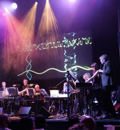 Will Gregory's Moog Ensemble. Photography Mark Douet