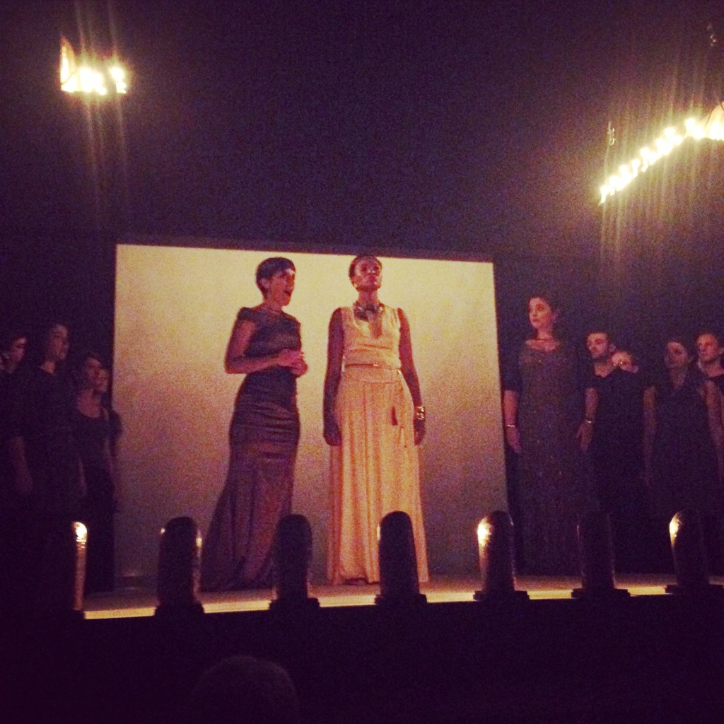 Lit by candlelight, the final night performance of Dido and Aeneas