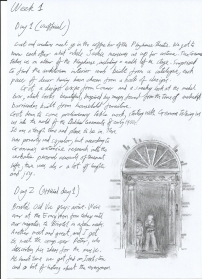 Jonathan's Rehearsal Diary 1 - Click on an image to enlarge to read