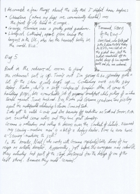 Jonathan's Rehearsal Diary 3 - Click on an image to enlarge to read
