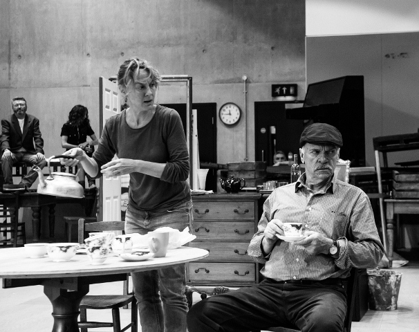 Niamh Cusack & Des McAleer in rehearsal for Juno and the Paycock ® Brian Roberts