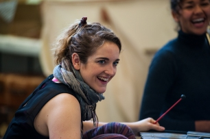 Millie Corser in rehearsal for Swallows and Amazons - Photo by ShotAway