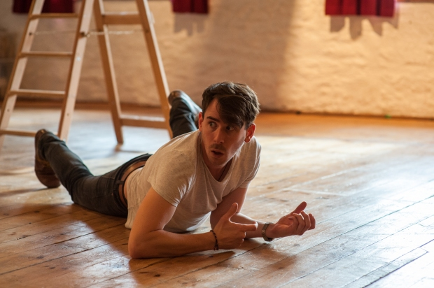 Robin in the War Game rehearsal room. Photography by Chris Cooper.