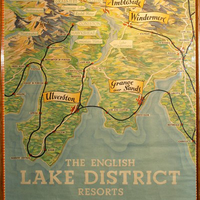 lake district old map