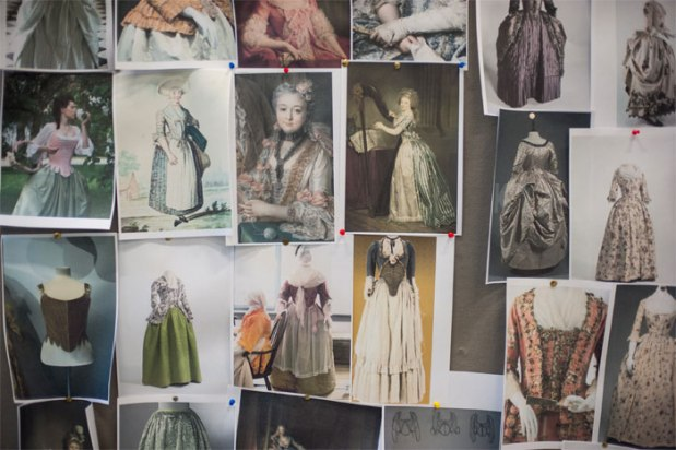 Inspiration board for The Life and Times of Fanny in the rehearsal room. Photo by ShotAway.