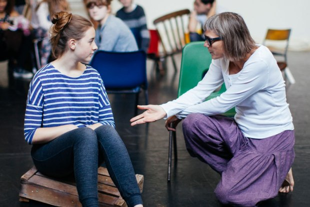 Amy and Melly in rehearsals for Life Raft
