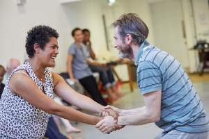 The company in rehearsal. Photo by Mark Douet.