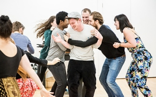 The Madame Macadam Travelling Theatre in rehearsal. Photo by Craig Fuller