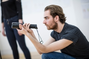 The Madame Macadam Travelling Theatre in rehearsal. Photos by Craig Fuller